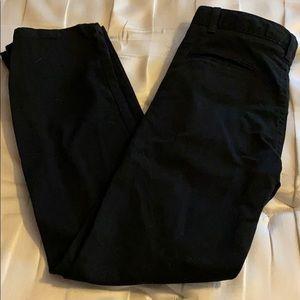 Chaps Black Casual Dress Pants, Boys 12,Chaps